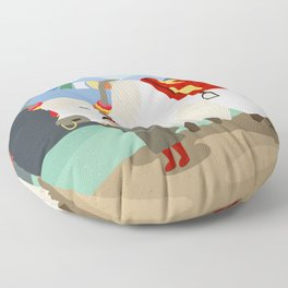 A child and his best friend Floor Pillow