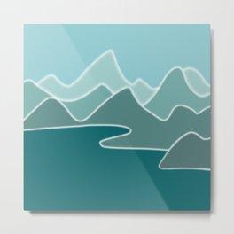 Coastal Life - Digital Art  Metal Print