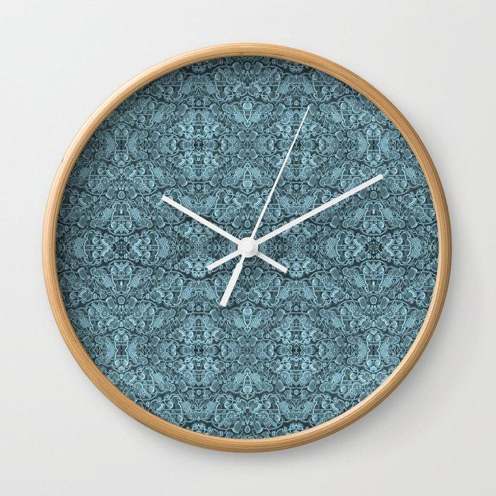 Kaleidoscopic vintage endpaper Wall Clock