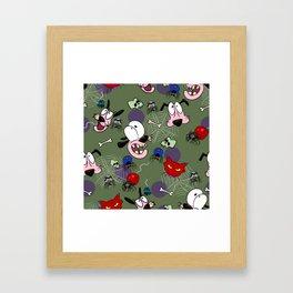 Spider pattern Framed Art Print