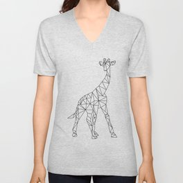 Geometric Giraffe Unisex V-Neck