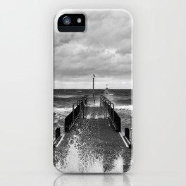 Frankston Pier in a storm iPhone Case