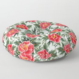 Jerk - Vintage Floral Tattoo Collection Floor Pillow