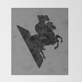 LAST CARD IN THE DECK BLACK Throw Blanket