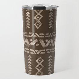 Bold Folk pattern pastel gold n.6 Travel Mug
