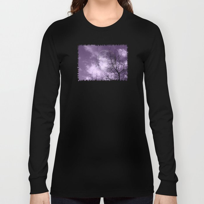 Purple Night  - JUSTART © Long Sleeve T-shirt