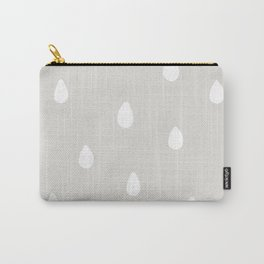 Gray Raindrop - Baby Room Pattern Carry-All Pouch