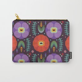 Flowerfully Folk Carry-All Pouch