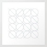 #531 I/O – Geometry Daily Art Print