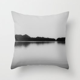 Herring Lake Black and White Throw Pillow