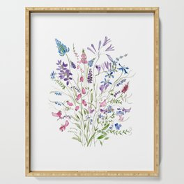 vintage wildflowers arrangement 2020 Serving Tray
