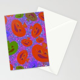 Halloween Pumpkins - Orange Purple & Green Palette Stationery Cards