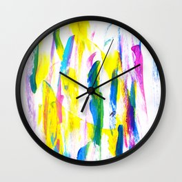 Paint Smears Colorful Abstract Wall Clock