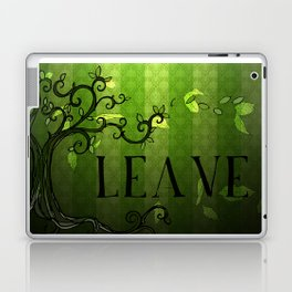 LEAVE - Summer Green Laptop & iPad Skin