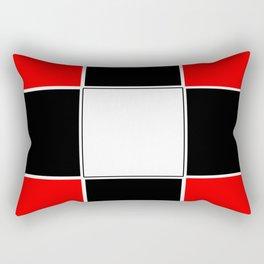 TEAM COLORS 3 ....RED , BLACK Rectangular Pillow