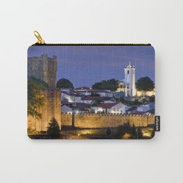 Braganca castle at dusk, Portugal Carry-All Pouch