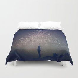 Alchemical Tetractys Duvet Cover