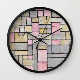 Composition 8 - Piet Mondrian Wall Clock