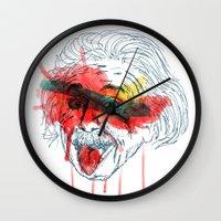 einstein Wall Clocks featuring Einstein by Alan fe