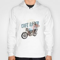 cafe racer Hoodies featuring Cafe Racer by Liviu Antonescu