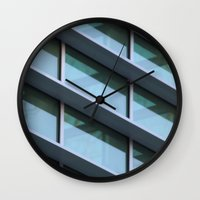 architecture Wall Clocks featuring Architecture by Alex Dodds