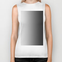 White to Black Vertical Linear Gradient Biker Tank