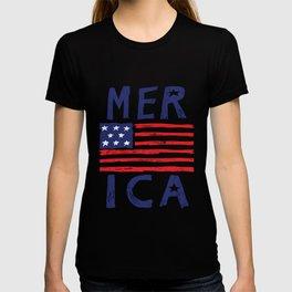 Distressed 4th of July USA Flag Patriotic Merica design T-shirt