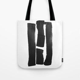 Four Lines Abstract Ink Painting Tote Bag