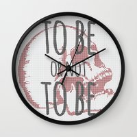 hamlet Wall Clocks featuring Hamlet by Typo Negative