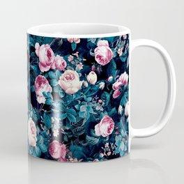 Roses Blue Coffee Mug