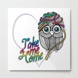 Adorable Owl Metal Print