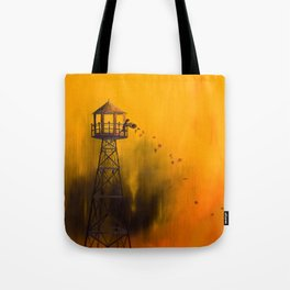 Autumn Tower Tote Bag
