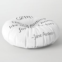 Jane Austen - Home Floor Pillow