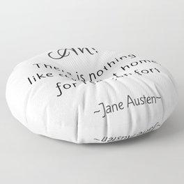 Jane Austen - Home Floor Pillow