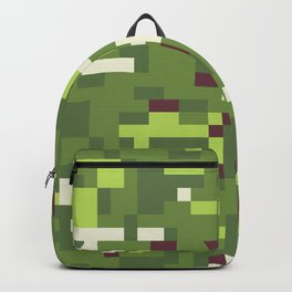 Camouflage military background in pixel style Backpack