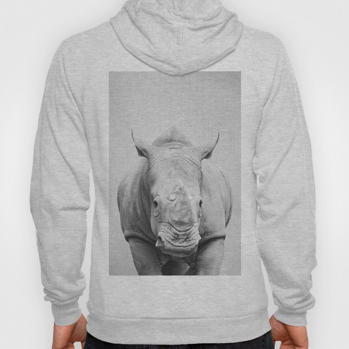 Rhino 2 - Black & White Hoody