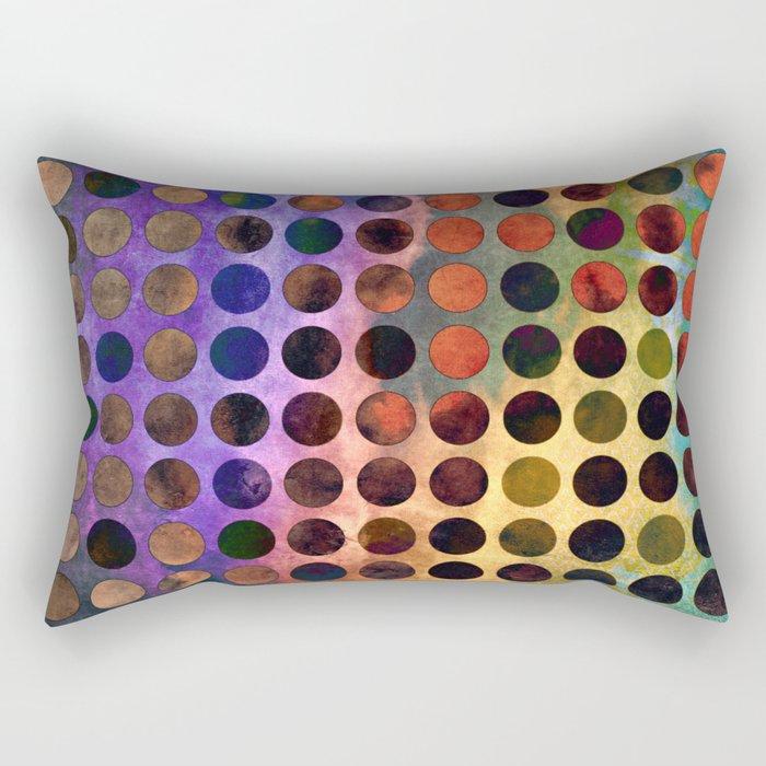 MELANGE of VIOLET and RUST Rectangular Pillow