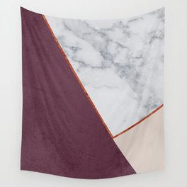 PLUM MARBLE NUDE COPPER GEOMETRIC Wall Tapestry