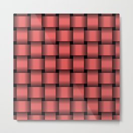 Large Light Red Weave Metal Print