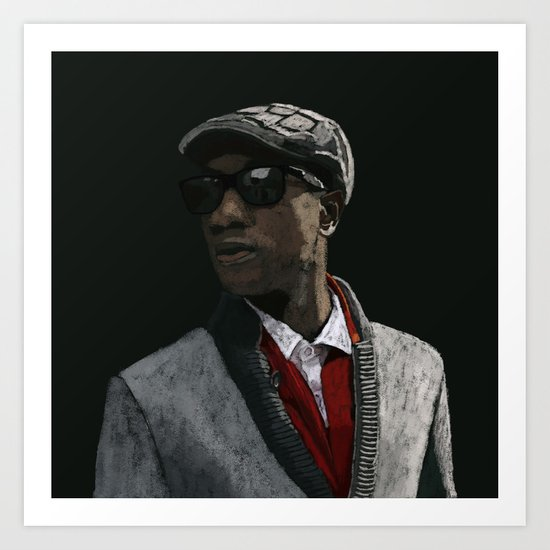 Aloe Blacc Art Print