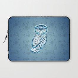 Blue ornamental owl Laptop Sleeve