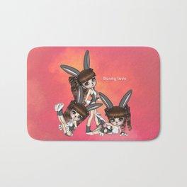 Bunny Love Spring Triplets Bath Mat
