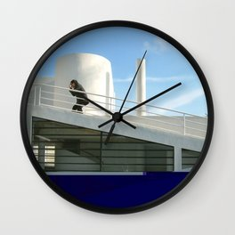savoye glitch Wall Clock