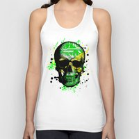 jamaica Tank Tops featuring Jamaica circuit Skull. by seb mcnulty
