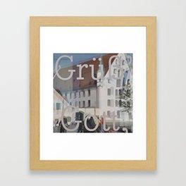 Gruess Gott Framed Art Print