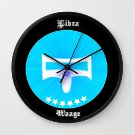 Zodiac sign Libra, starsign libra Wall Clock
