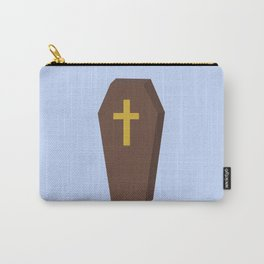 Halloween coffin with cross Carry-All Pouch