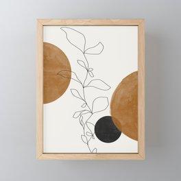 Abstract Plant Framed Mini Art Print