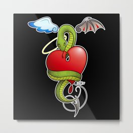 Heart with snake Metal Print
