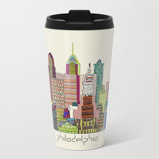 Philadelphia city sklyine Metal Travel Mug